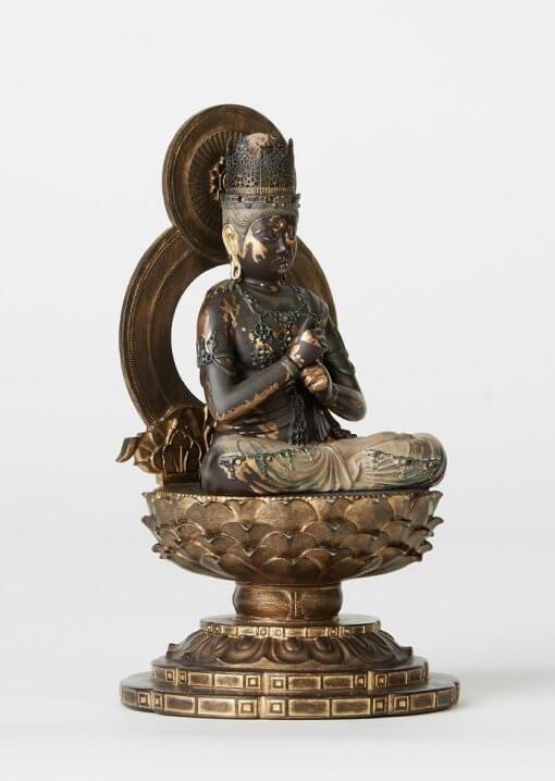 Buddha Statue for sale, Dainichi Nyorai palm-sized, right front view