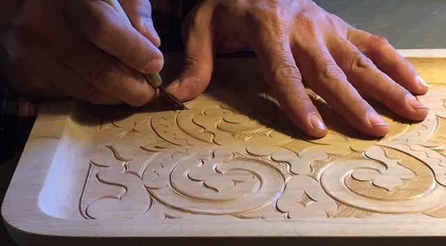 making Japanese crafts Nibutani Ita