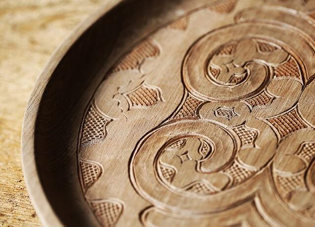 detailed pattern of Japanese crafts Nibutani Ita