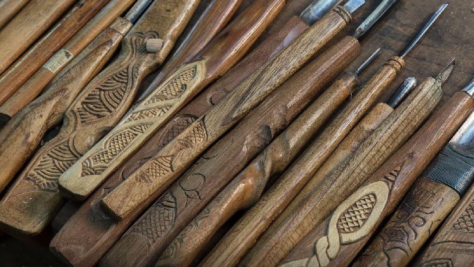 tools used for Japanese crafts Nibutani Ita