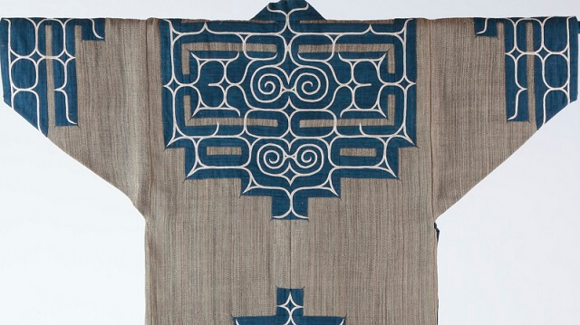 Japanese crafts Nibutani Bark Cloth, product example backside