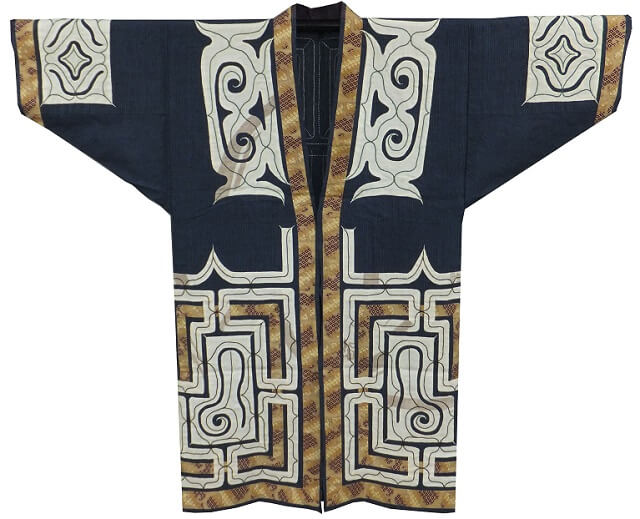 Japanese crafts Nibutani Bark Cloth, product example front view