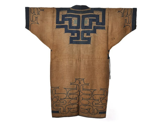 Japanese crafts Nibutani Bark Cloth, product example backside entire view