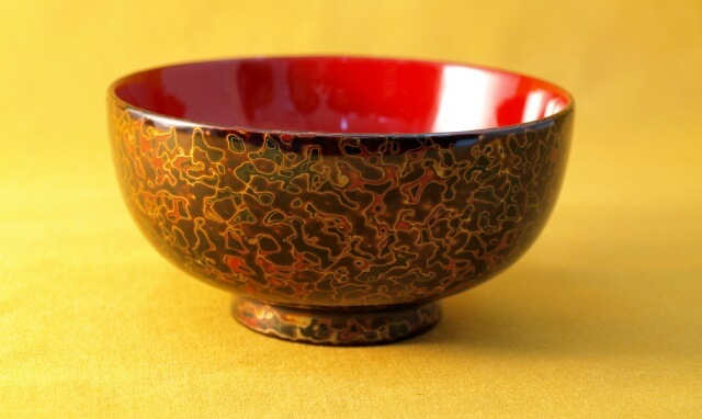 Tsugaru Lacquerware, a traditional Japanese crafts from Aomori, soup bowl