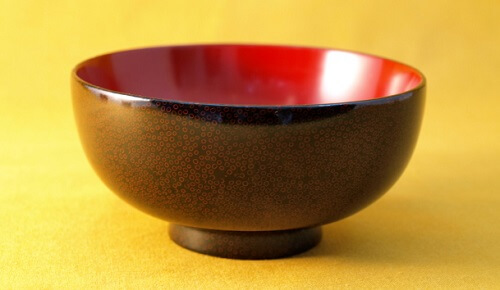 Tsugaru Lacquerware, a traditional Japanese crafts from Aomori, beautiful soup bowl nanako coating