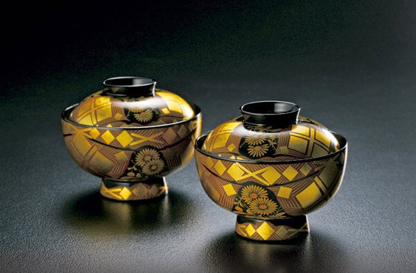 Japanese lacquerware crafts, Hidehira Lacquerware, soup bowl with lid