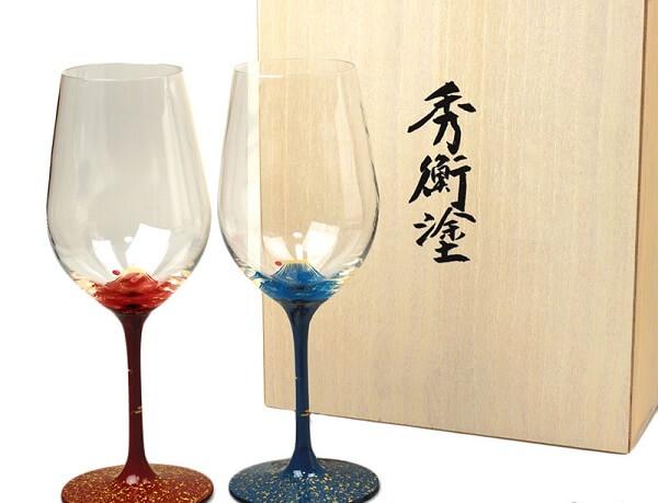 Japanese lacquerware crafts, Hidehira Lacquerware, beautiful wine glasses