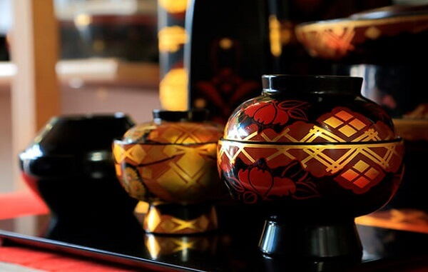 Japanese lacquerware crafts, Hidehira Lacquerware representative products, soup bowls