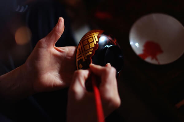 Japanese lacquerware crafts, Hidehira Lacquerware making process by a craftsman