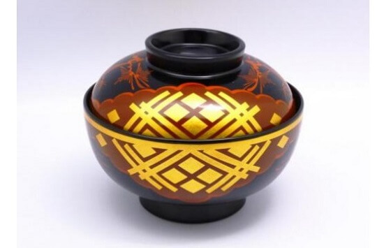 Japanese lacquerware crafts, Hidehira Lacquerware product example, soupbowl
