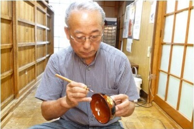 Japanese lacquerware crafts, Hidehira Lacquerware making process of an example product