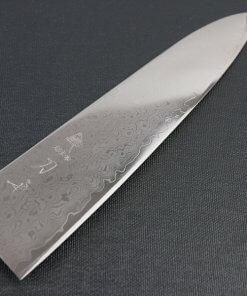 Japanese Chef Knife, Damascus Gyuto, details of blade frontside