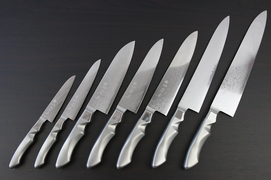 Toshu Damascus Japanese Chef Knife series, full lineup