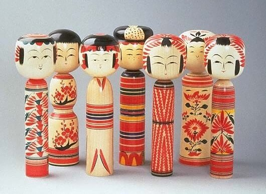 Japanese Traditional Wood Carving Dolls, Kokeshi, product variations