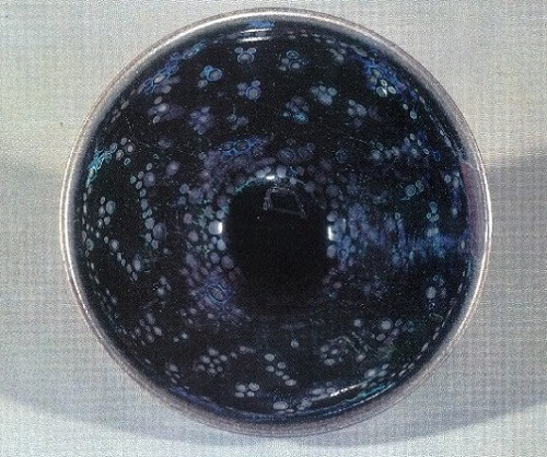 details of National Treasure Yohen Tenmoku tea bowl owned by Daitokuji Temple