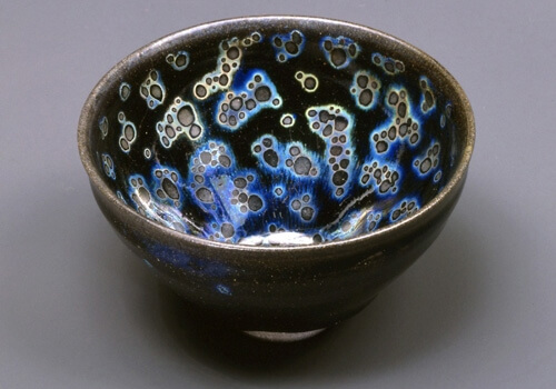 National Treasure Yohen Tenmoku tea bowl owned by Seika Museum