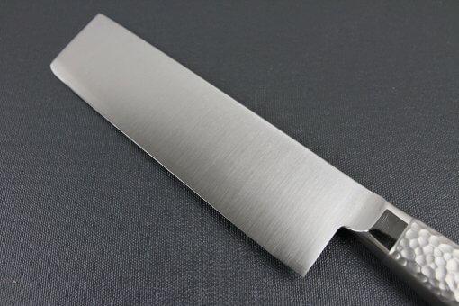 Japanese Chef Knife, Elegance Monaka Series, Nakiri vegetable knife 170mm, backside blade view