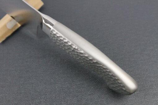 Japanese Chef Knife, Elegance Monaka Series, Nakiri vegetable knife 170mm, handle top view