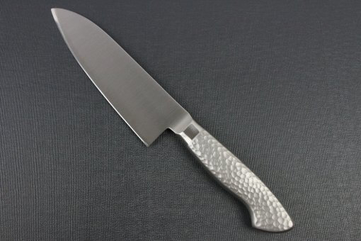 Japanese Chef Knife, Elegance Monaka Series, Santoku multi-purpose knife 165mm, backside view
