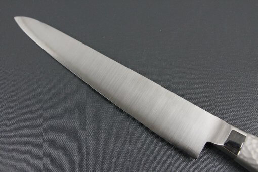 Japanese Chef Knife, Elegance Monaka Series, Sujikiri slicing knife 240mm, backside blade details