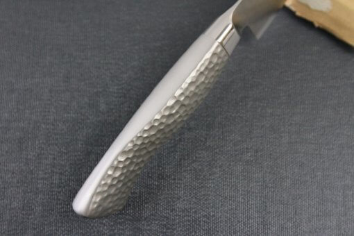 Japanese Chef Knife, Hammer Finish Series, Petit knife 120mm left-handed, handle top view