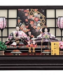 Hina dolls, a Japanese doll, gorgeous pair doll set kocho, entire view