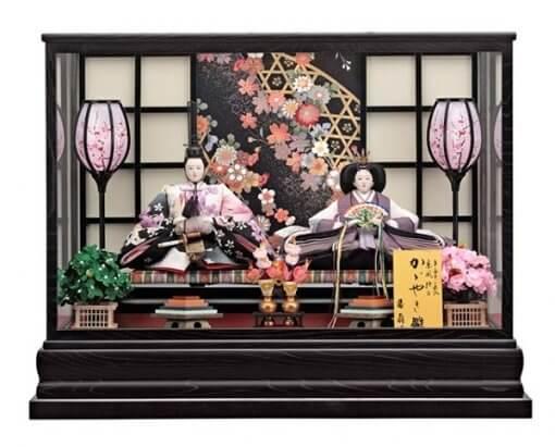 Hina dolls, a Japanese doll, gorgeous pair doll set kocho, entire view
