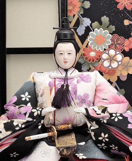Hina dolls, a Japanese doll, gorgeous pair doll set kocho, details of emperor doll