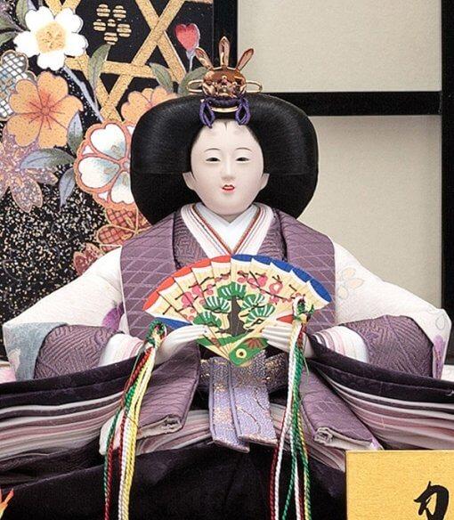 Hina dolls, a Japanese doll, gorgeous pair doll set kocho, details of empress doll
