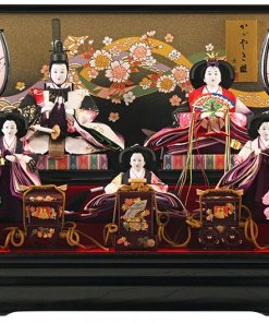 Hina dolls, a Japanese doll, gorgeous 5 dolls set Shiori, entire view