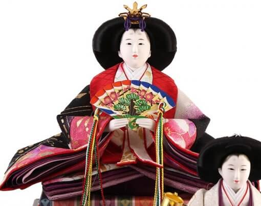 Hina dolls, a Japanese doll, gorgeous 5 dolls set Shiori, entire view of the empress doll