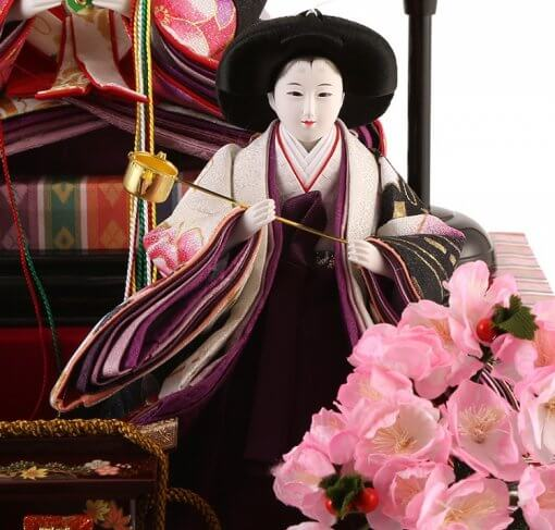 Hina dolls, a Japanese doll, gorgeous 5 dolls set Shiori, entire view of one of the three court ladies (C)