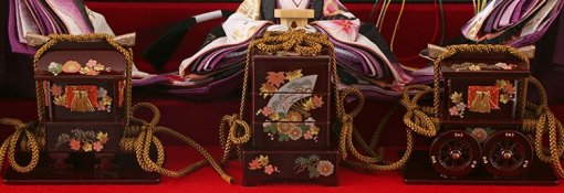 Hina dolls, a Japanese doll, gorgeous 5 dolls set Shiori, details of ornament