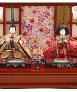 Hina dolls, a Japanese doll, gorgeous pair dolls set Ukibune, entire view