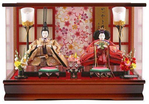 Hina dolls, a Japanese doll, gorgeous pair dolls set Ukibune, entire view