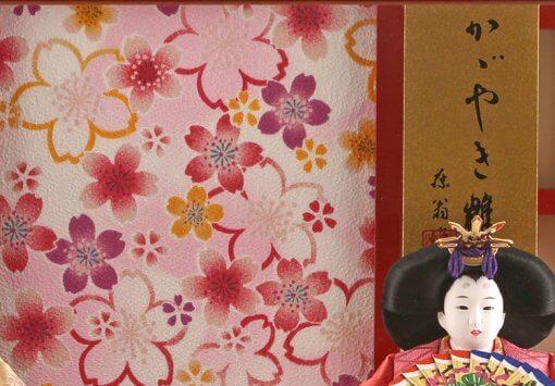Hina dolls, a Japanese doll, gorgeous pair dolls set Ukibune, background wall details