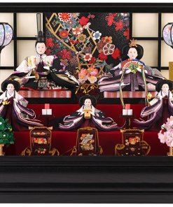 Hina dolls, a Japanese doll, gorgeous 5 dolls set kocho, entire view