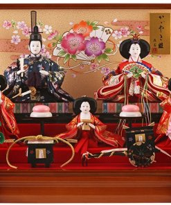 Hina dolls, a Japanese doll, gorgeous 5 dolls set Misaki, entire view