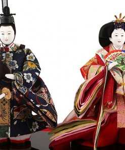 Hina dolls, a Japanese doll, stand-up pair doll set Mitsuki, details of dolls