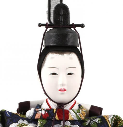 Hina dolls, a Japanese doll, stand-up pair doll set Mitsuki, face of the emperor doll