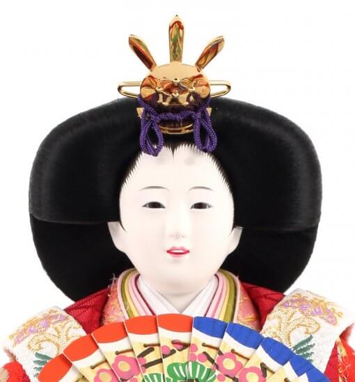Hina dolls, a Japanese doll, stand-up pair doll set Mitsuki, face of the empress doll