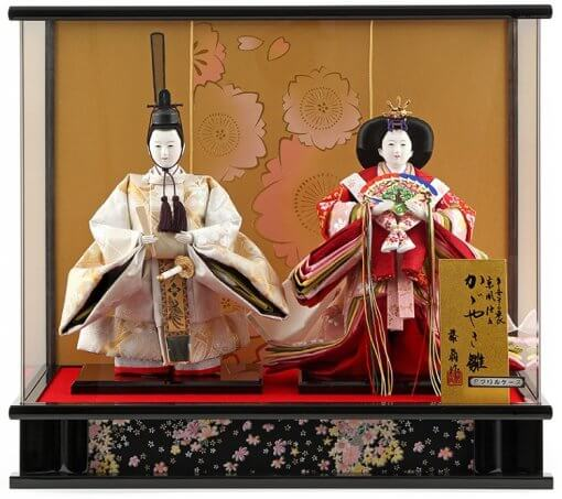 Hina dolls, a Japanese doll, stand-up pair doll set Hatsuki, entire view