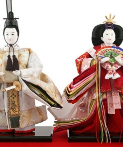 Hina dolls, a Japanese doll, stand-up pair doll set Hatsuki, details of the dolls