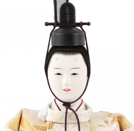 Hina dolls, a Japanese doll, stand-up pair doll set Hatsuki, face of the emperor doll