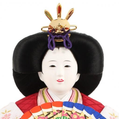 Hina dolls, a Japanese doll, stand-up pair doll set Hatsuki, face of the empress doll