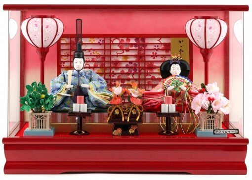 Hina dolls, a Japanese doll, gorgeous pair dolls set Yuna LED, entire view of the product