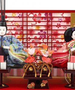 Hina dolls, a Japanese doll, gorgeous pair dolls set Yuna LED, details of the emperor and the empress dolls