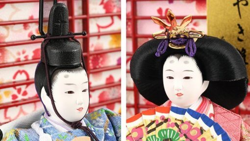 Hina dolls, a Japanese doll, gorgeous pair dolls set Yuna LED, faces of the dolls