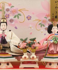 Hina dolls, a Japanese doll, gorgeous pair doll set Hagoromo white, details of the pair dolls