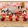 Hina dolls, a Japanese doll, gorgeous 5 dolls set Wakana, entire view
